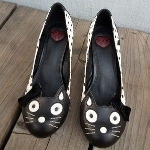 Cat Heels! B&W Polka Dot by TUK